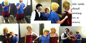 England and Alfred Look Dead Smexy in a Mini Skirt by GummiestCosplay