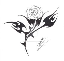 Tribal Rose Design by Dirtbag-Star