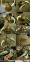 Skyrim Helmet Progress by thegadgetfish