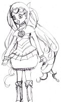 Cure Muse Sketch by RoseGal55