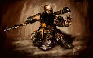 Dwarf Monk by The-Fronti
