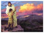 Embracing Jesus by Russianart23