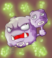 Weezing by crossedstar