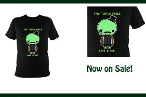 Sir Turtle Kawaii Tshirt -ON SALE- by Chupanda