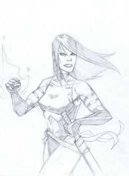 Psylocke Sketch by TCSmith
