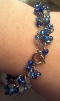 Blue Bead Bracelet by ulfchild
