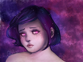 Galaxy Girl by SavDraws
