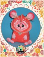 Raton Rosa cute pink mouse by prok-art
