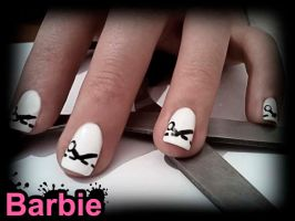 Cutting Line Nails by BarbieNailArt