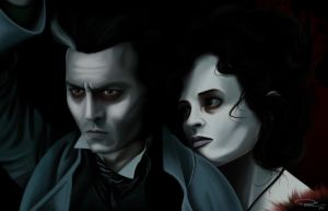 Johnny Depp is Sweeney Todd by Paranosc