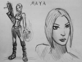 Sketches Maya by spaceMAXmarine