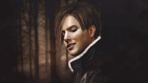 Leon smiles . Resident evil 4, 1920X1080 by push-pulse
