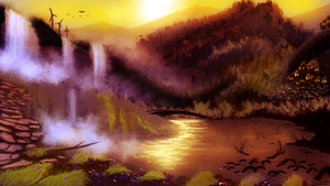 FrostwindzDrawing | Fantasy Lake by Frostwindz