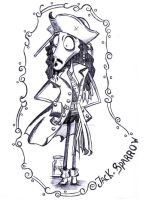Jack Sparrow goes Tim Burton by Missy-Sparrow