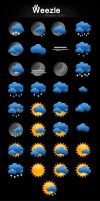 Weezle - Weather Icons by d3stroy