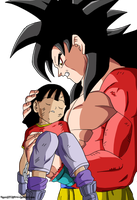 Goku Ssj4  y Pan coloreo by Son Ssj3 by SonSsj3