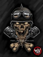 BIKER HEAD by rheen