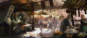 market scene by Stephanieboehm