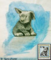 A doggy from a Postage Stamp by Rana-Rocks