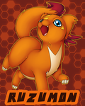 :CollabCom: Ruzumon Badge by Pikuna