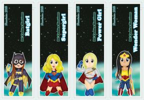 DC Comic Heroines Bookmarks by DannimonDesigns