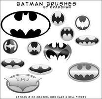 Batman Photoshop Brushes by Kradchan