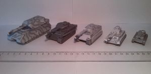 1:100 WWII Tanks paper models by Tim1995