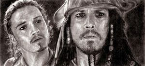 Capt'n Sparrow and Simpleton by Fereshteh