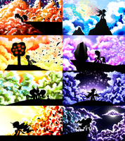 MLP Cloud Silhouettes [Full Set] by flamevulture17