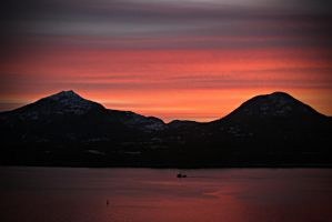 Tongass Narrows Sunset 121209 by Muskeg