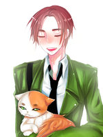 [ APH ] Ireland + Iggy Cat by namioki-chan