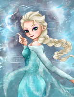 Queen Elsa by LittleOcean