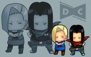 chibis android 17 18  by CIWI by DYKC