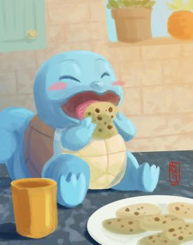 If You Give a Squirtle a Cookie by betsyillustration