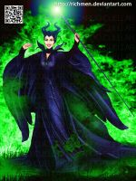 Maleficent Disney Angelina Jolie by Richmen