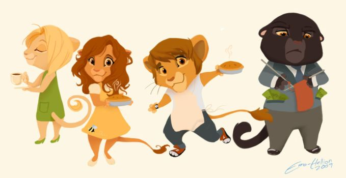 Pushing Daisies Kitties by Emo-Hellion