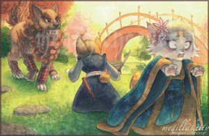 The Cat's Elopement by megillakitty