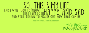 [ B ] The Perks of Being a Wallflower by letterbyowl
