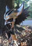 Leather Hawkgirl Helmet - Right Profile by Epic-Leather