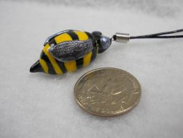 Bumble Bee Necklace by JesusArt8