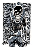Sketch Card - Tali by Jadiekins