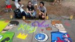 X-Ray and Vav Chalk Drawing by CattBon