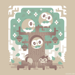 Wood Owl Woods [T-Shirt] by Versiris