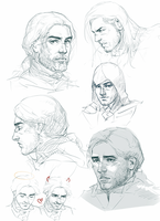 Arno Dorian sketches by MByak