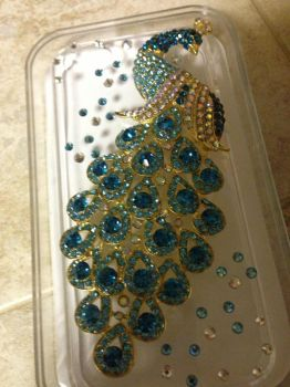 Custom Peacock Phone Case by BlueAsclepias