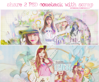 [SHARE PSD] 2 PSD COMEBACK WITH SCRAP by KatMinion