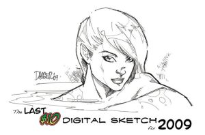 The last $10 sketch for 2009 by DaggerPoint