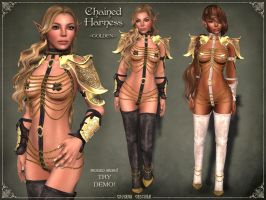 Chained Harness GOLDEN by Elvina-Ewing