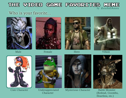 My Favorite Video Game Characters by BladetheEchidna1
