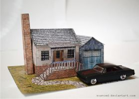 Suburbia Diorama Papercraft 2 by svanced